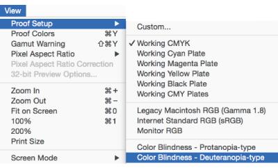 View Proof Setup Color Blindness
